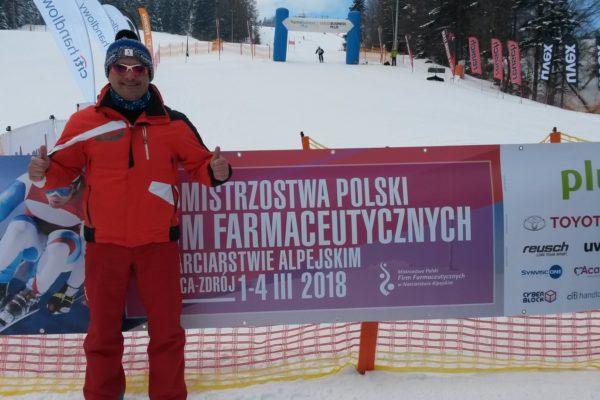Jarosław Bartniczuk na stoku podczas Mistrzostw